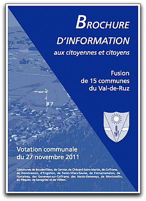 Couverture brochure information Fusion VdR